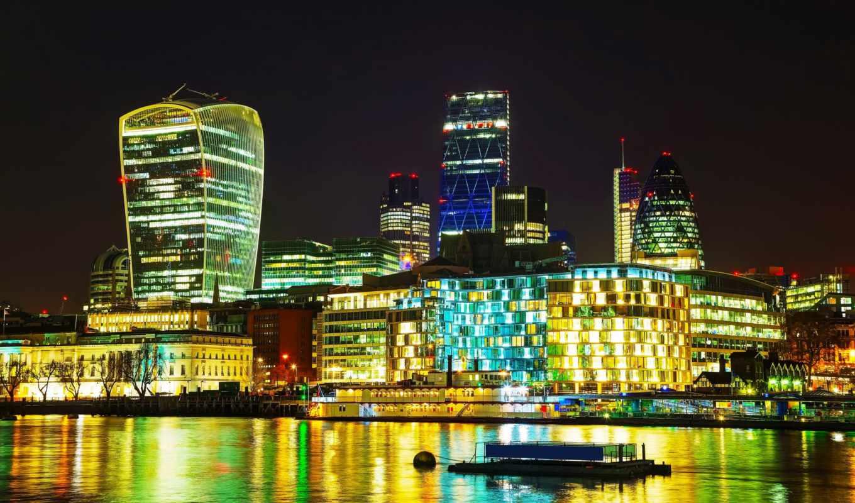 stock, города, united, kingdom, ди, ночь, лондона, фотоэффект, картинка, rivers,