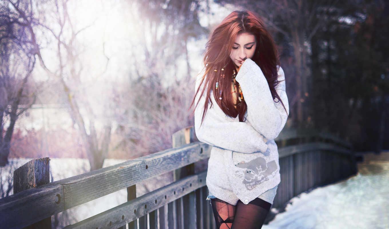 мост, фон, девушка, фото, comp,