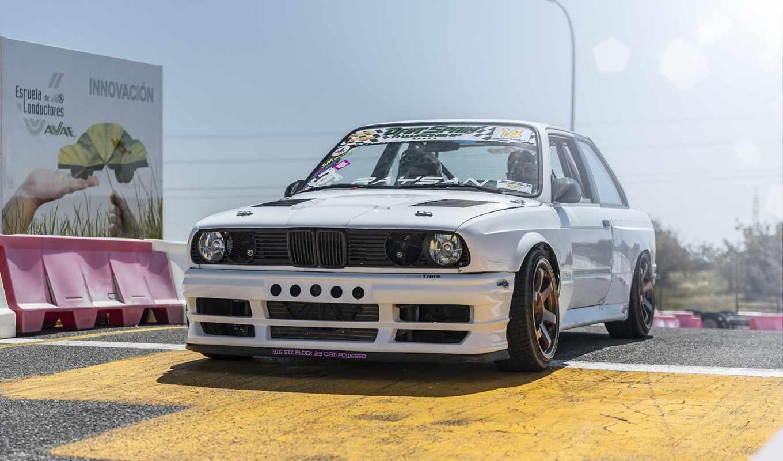 bmw, white, car, тюнинг,