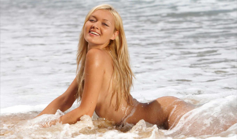 картинка, chantal, море, эротика, monika, природа, побережье, blonde, девушка, sexy, обнаженная,