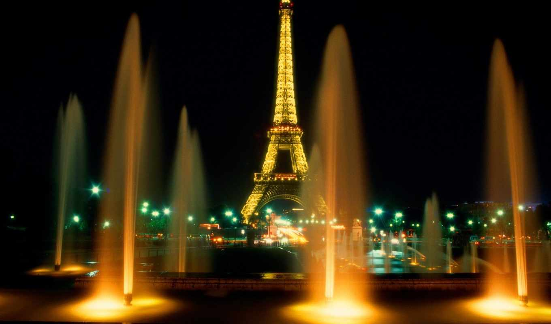 eiffel, башня, turret, картинку, эйфелева, город,