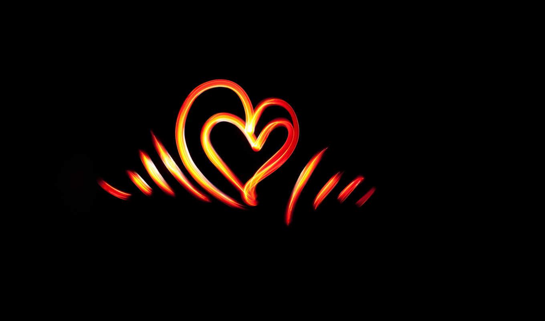 сердце, линии, свет, картинку, красивые, кнопкой,