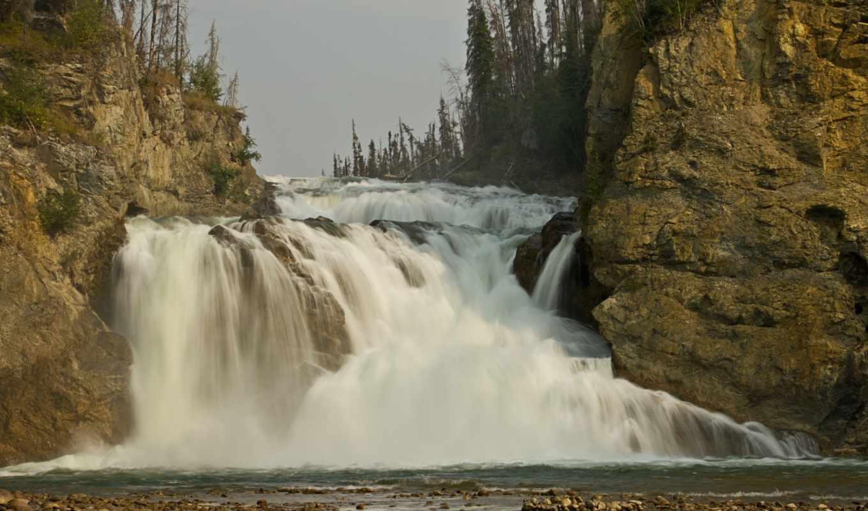 smith, british, columbia, канада, park, provincial, river, falls, fort, halkett, водопад, скалы, поток,