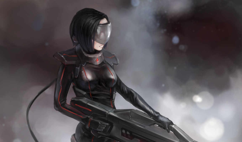 futuristic, warrior, anime, girl,