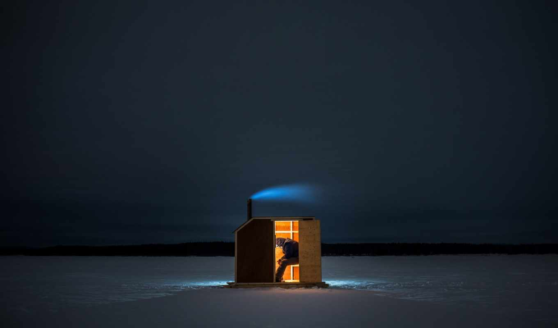 рыбалка, свет, дым, ночь, twitter, зимняя, горы, мужчина, profile, озеро, лед,