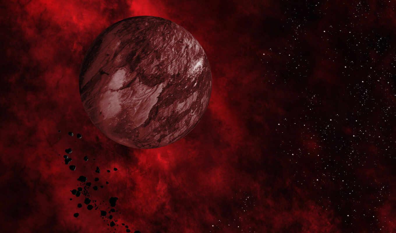 космос, planet, red, фон