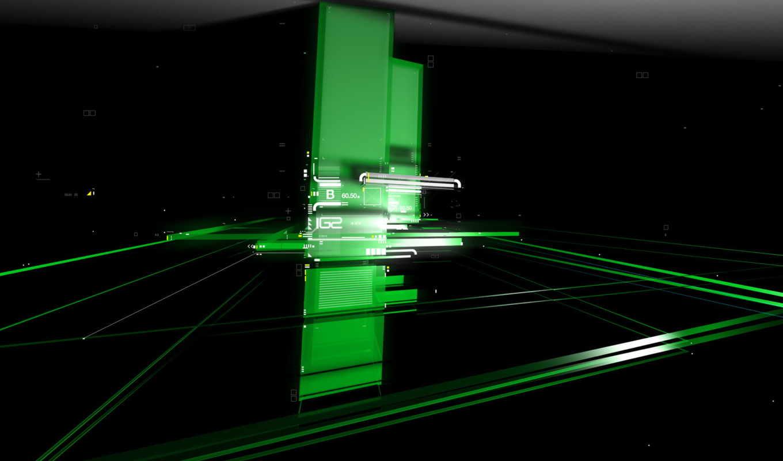 пластины, зеленый, черный, green, digital, wallpaper,