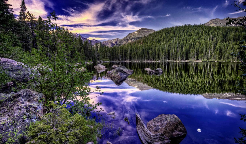 природы, прекрасными, уголками, пейзаж, небо, весенний, природа, картинка, лес, minus,