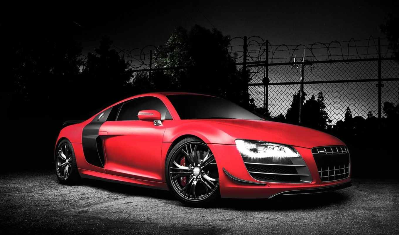 audi, red, автомобиль, красная, спорткар, тюнинг, autowalls, sports,