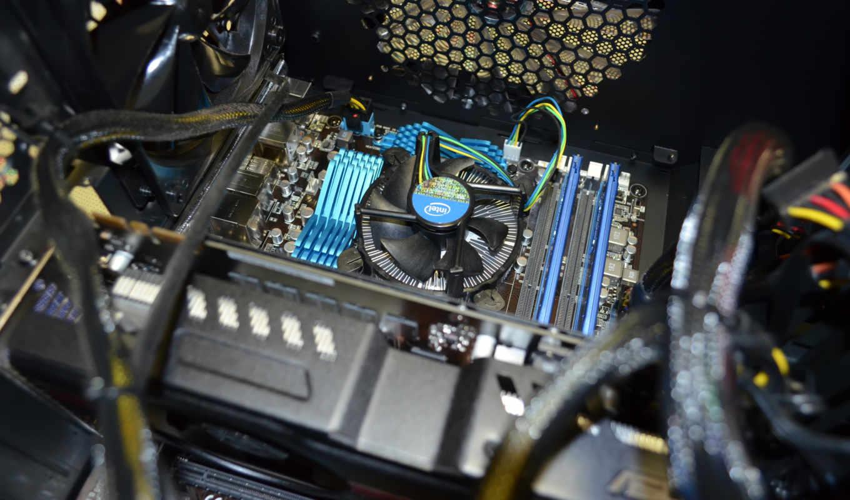 процессор, komp, блок, kuller, системный,