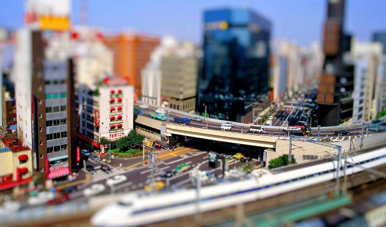 дек, tokyo, город, городская, японии,