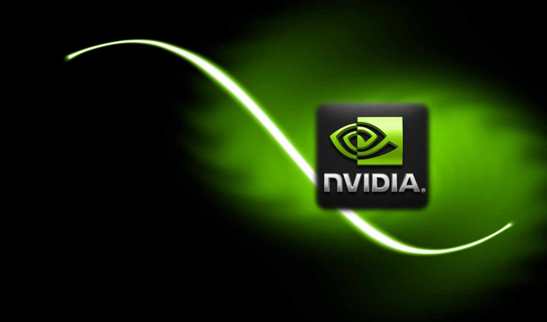 nvidia, лого, черный, зелёный