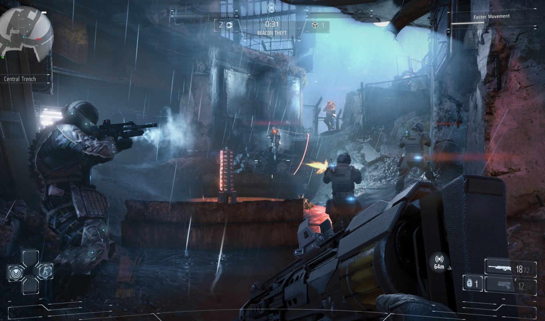 games, killzone, shadow, guerrilla, пасть, guerilla,