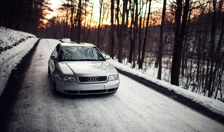 ауди, stance, снег, winter,