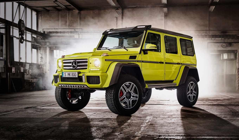 new, mercedes, benz, желтый, гелендваген, motor,,