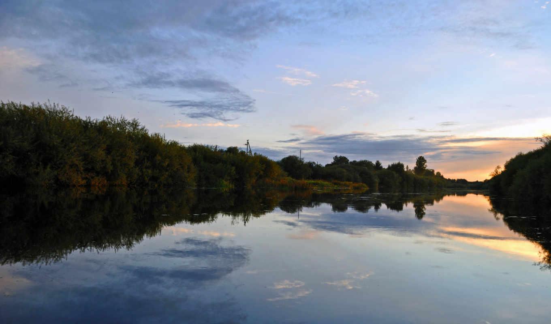 тихий, amazing, река, деревья, беседка, дома, water, mixed, garden, утка,