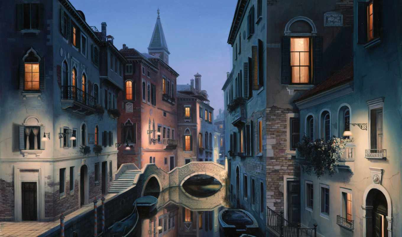 венеция, евгений, город, живопись, картинку, правой, красивые, кнопкой,