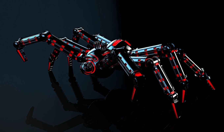 robot, spider,