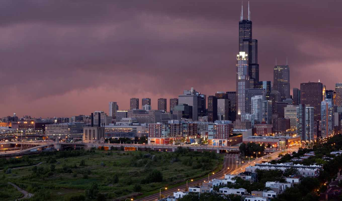 chicago, widescreen, resolution, 芝加哥, tower, select, desktop,