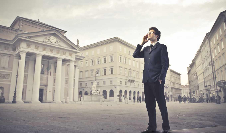 телефон, мужчина, очки, кофта, масть, город, брюки,