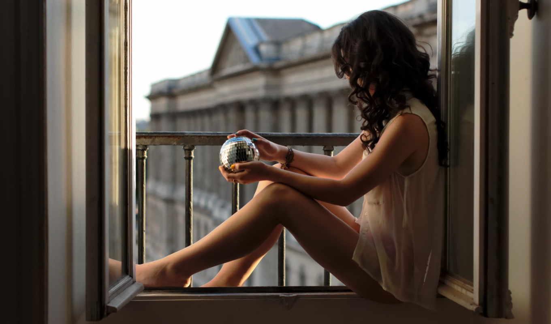 девушка, окно, окна,