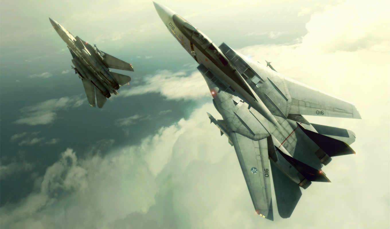 обои, ace, combat, фото, широкоформатные, авиация,