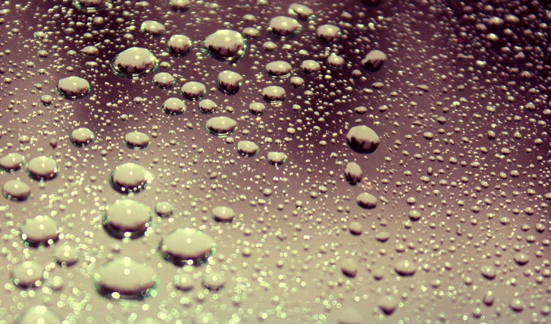капли, стекло, поверхность, вода, стекле,