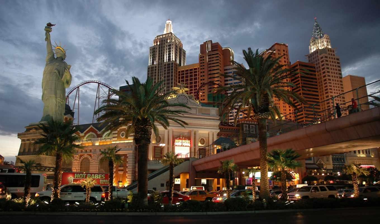 new, hotel, york, las, нью, liberty, свободы, статуя, vegas,