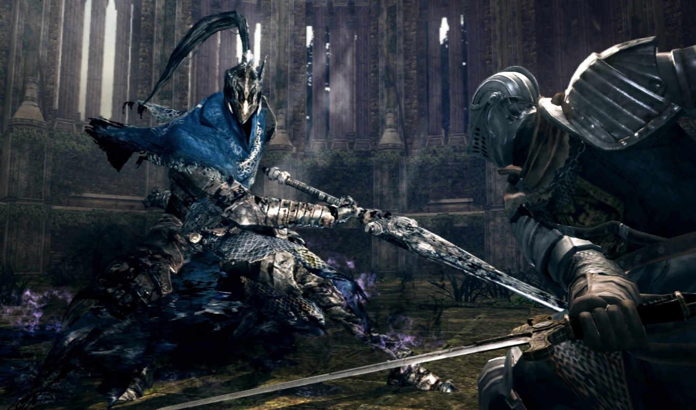 souls, dark, die,рыцари,мечи,бой,