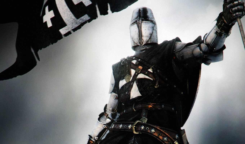 ,крестоносец, флаг, доспехи