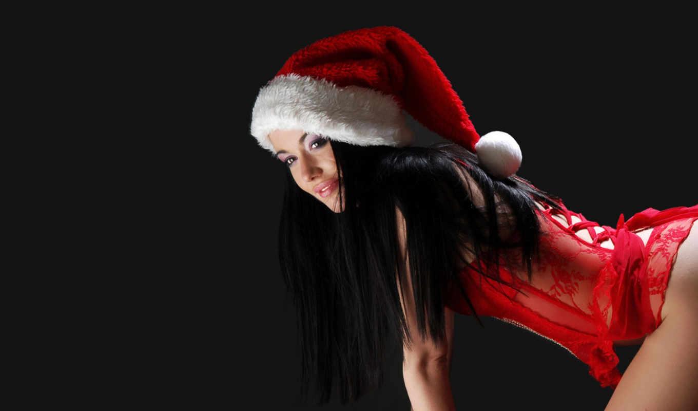 девушка красная шапка брюнетка лицо без смс