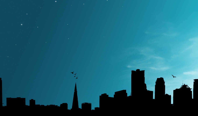 city, небоскребы, ночь, небо, background, splendid, sony,