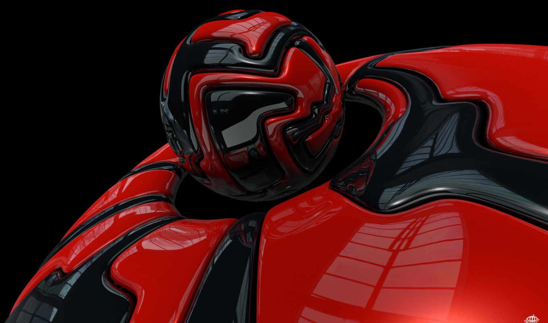 red, cracks, графика, black,