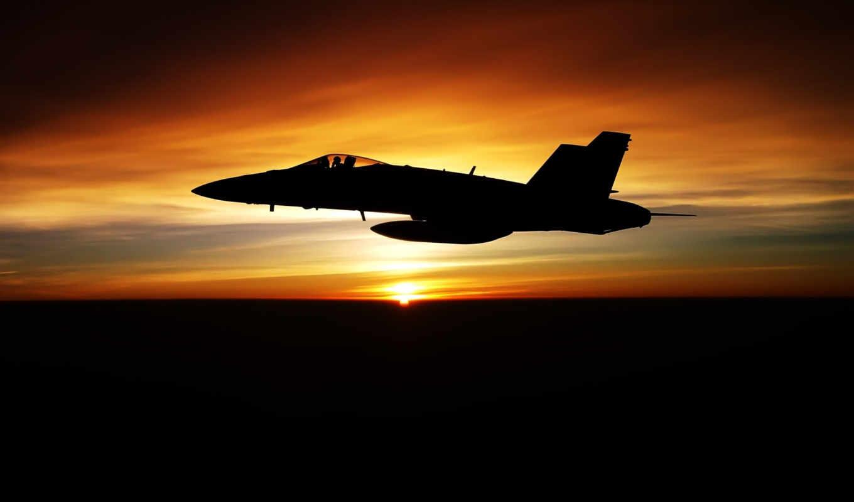 истребитель, истребители, авиация, самолёт, закате, полет,