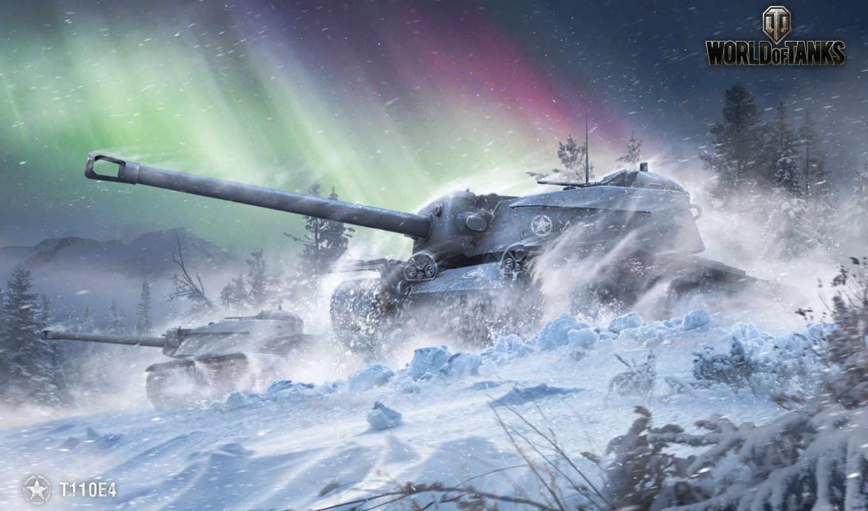 ,ПТ-САУ, Т110Е4, wot, танки, снег,