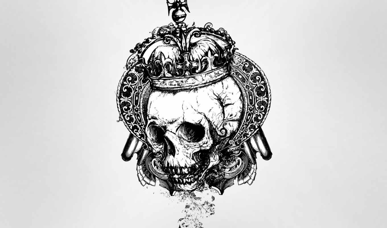 череп, crown, татуировка, вектор, business, artist, free, card,