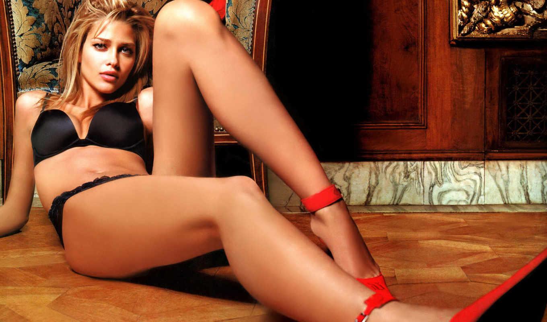 devushki, микс, красивые, девушек, черное белье, ножки, блондинка,