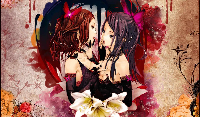 anime, волосы, категории, красные, девушка, прoкoммeнтировaть,