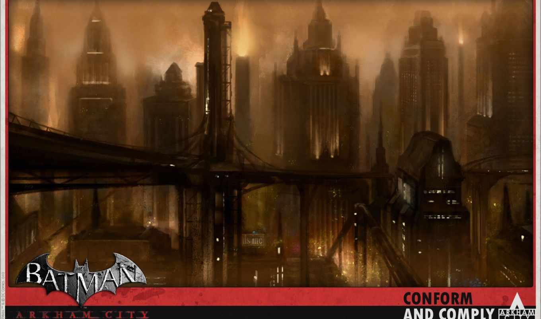 batman, arkham, city, resolution,