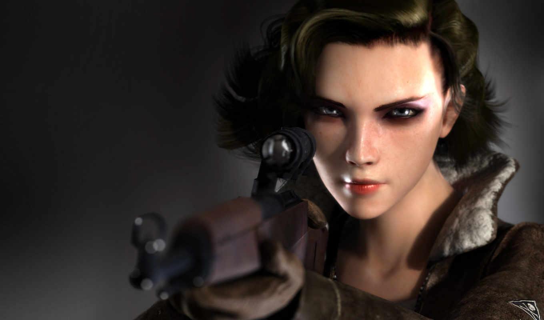 creed, девушка, снайпер, assassin, brotherhood,
