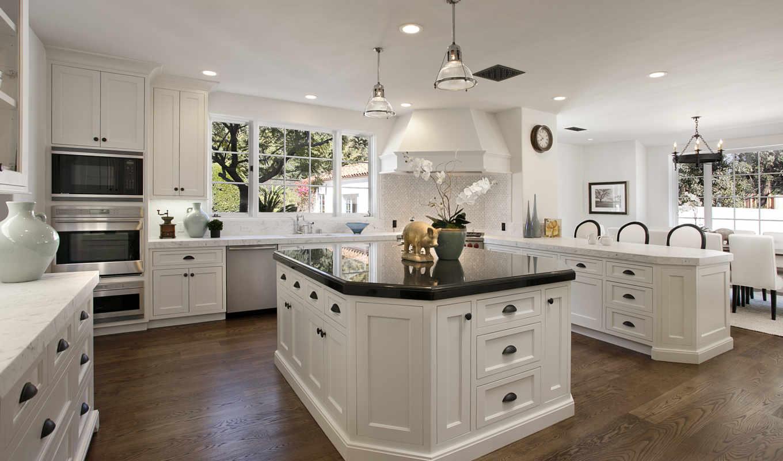 kitchen, белая, design, интерьер, кухни, стулья, картинка,