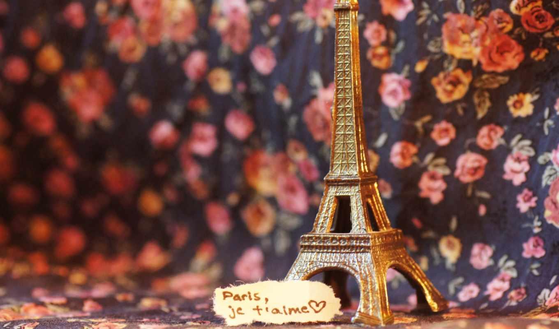 париж, love, eiffel, башня, нота,