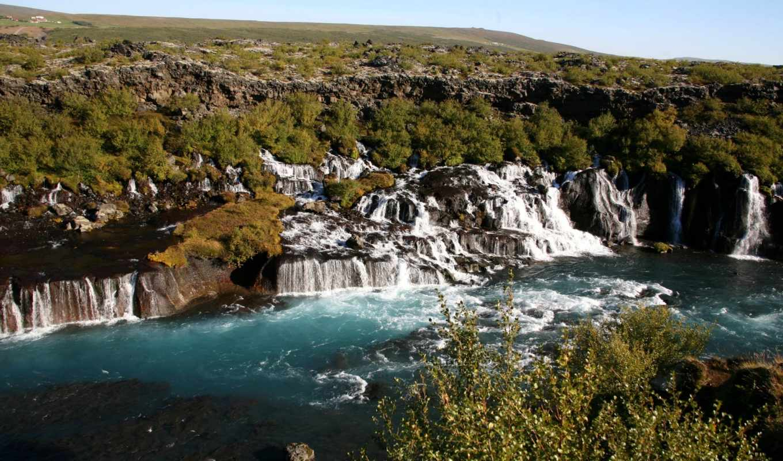 природа, waterfalls, картинка, июня,