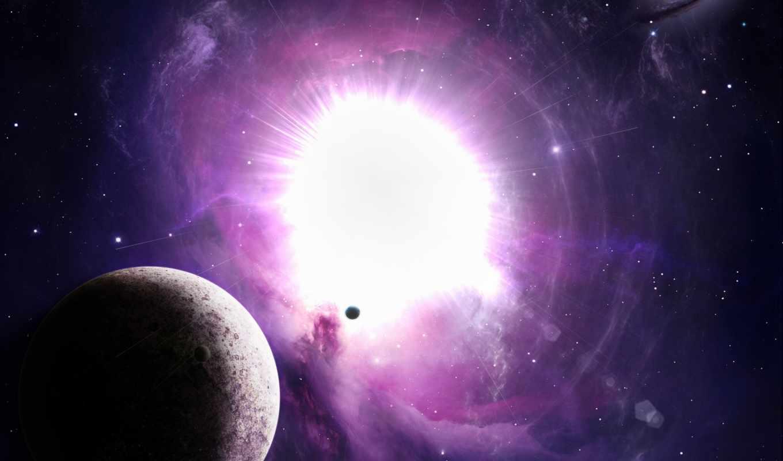 планета, вспышка, звезда, взрыв, light, galaxy, картинка,