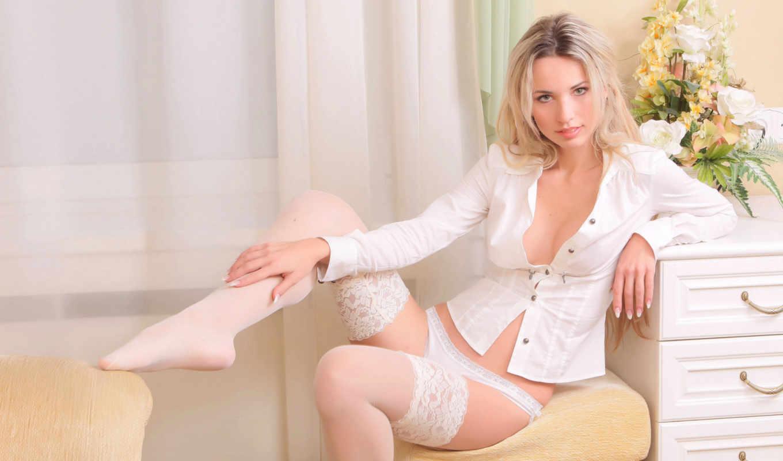 girls, sexy, lingerie, широкоформатные, чулки, women,, эротические, panties, белое белье,