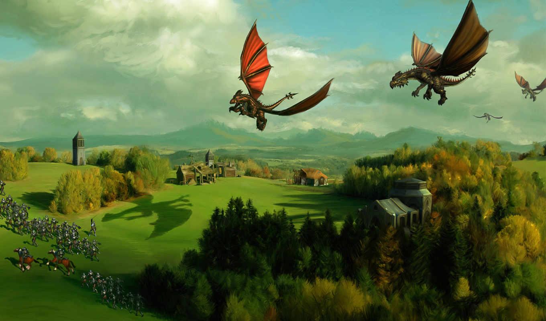 природа, дракон, spellforce,