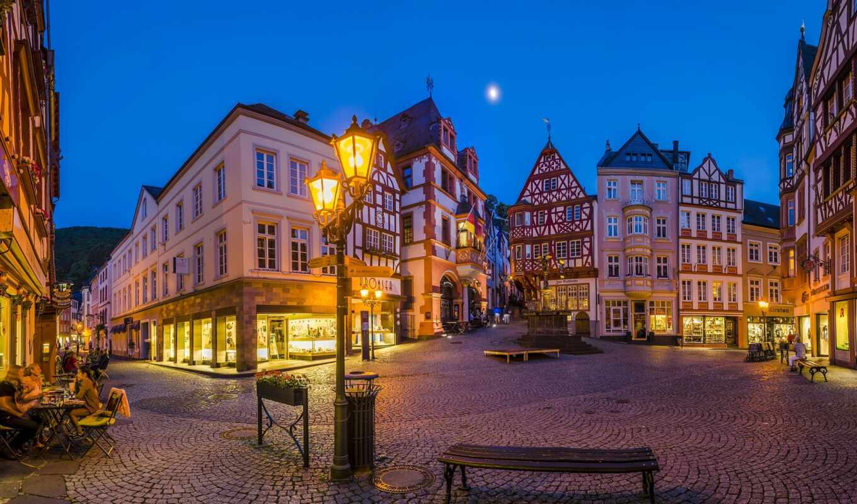 bernkastel, market, square, улица, tarde, casa, alemania, pantalla, oslo, германия, скамейка
