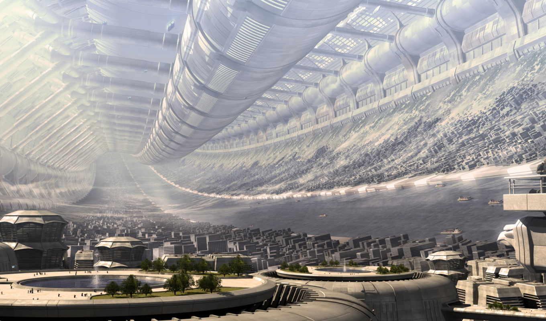 город, будущего, тонель,