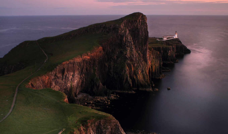more, краю, маяк, шотландия, скалы, небо, lighthouse, photos, британия,