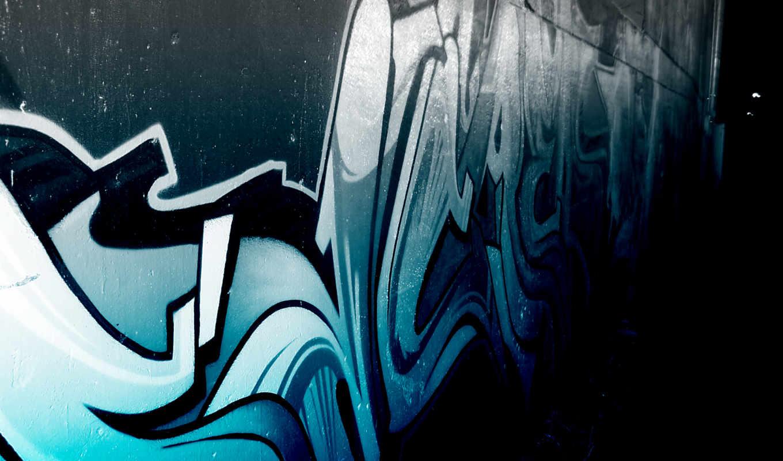 graffito, art, blue, фон, banksy